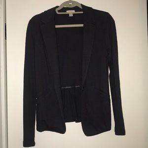 Grey Caslon Knit One-Button Blazer